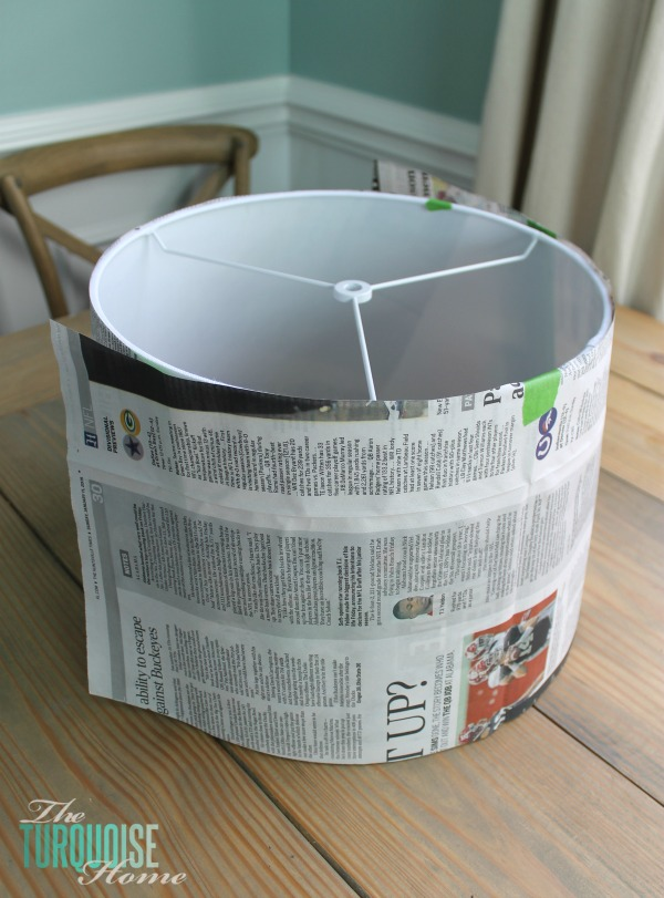 How to Make a Custom Lamp Shade | TheTurquoiseHome.com