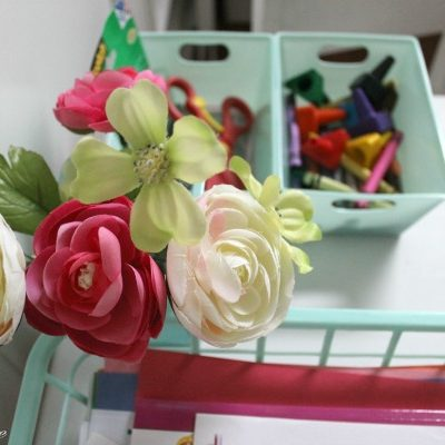 Simple Toddler Craft Organization | TheTurquoiseHome.com