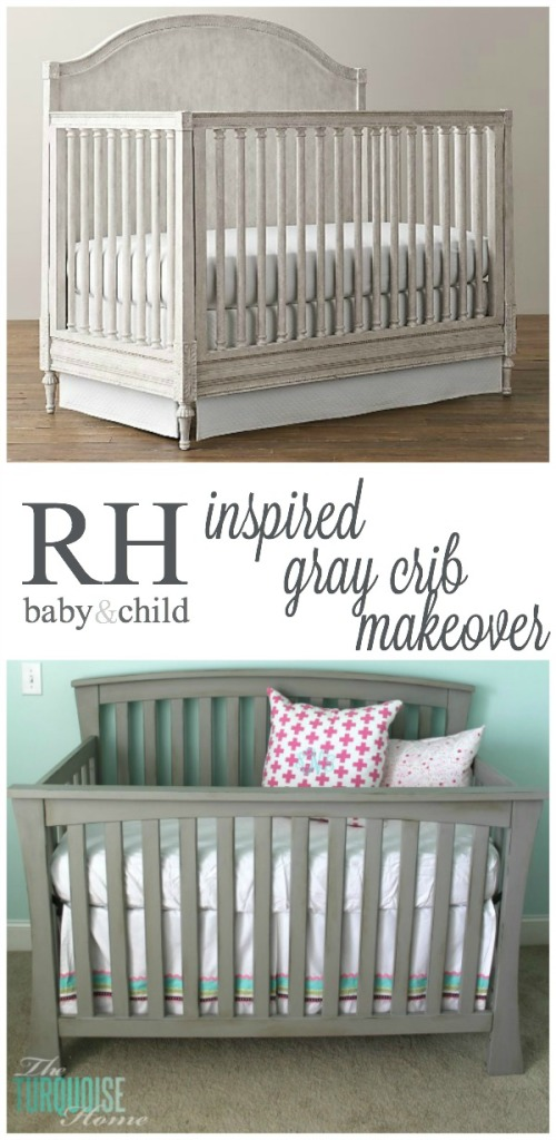Beautiful Gray Crib Makeover with Annie Sloan Chalk Paint  The