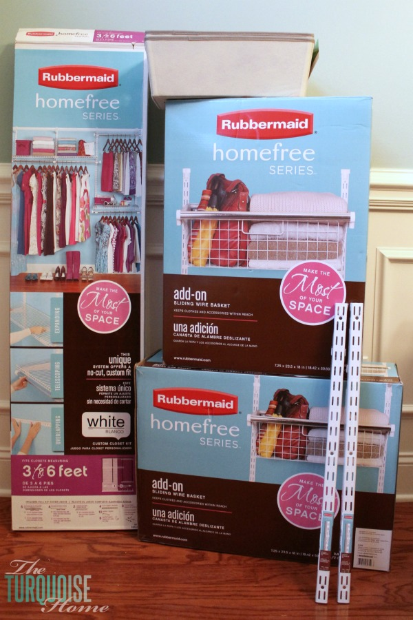 Rubbermaid HomeFree Closet System | TheTurquoiseHome.com