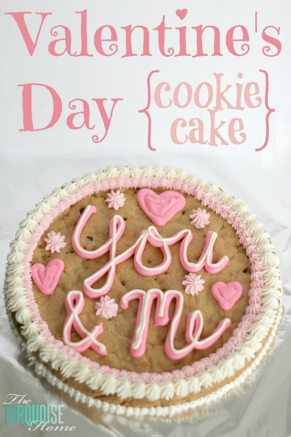How to Make a Cookie Cake {Recipe} | TheTurquoiseHome.com