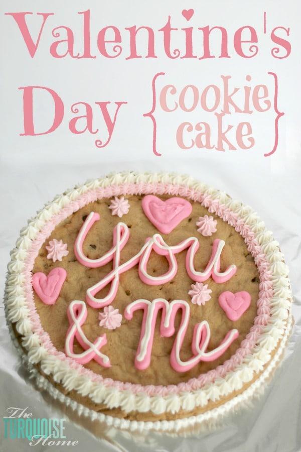 How to Make a Cookie Cake {Recipe} | TheTurquoiseHome.com