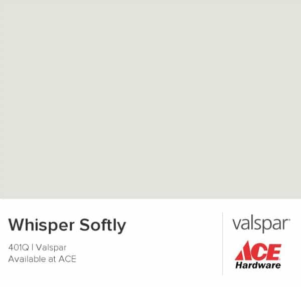 Whisper Softly from Valspar | DIY Painted Drop Cloth Rug | TheTurquoiseHome.com