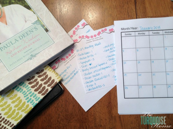 Monthly Meal Planning | TheTurquoiseHome.com