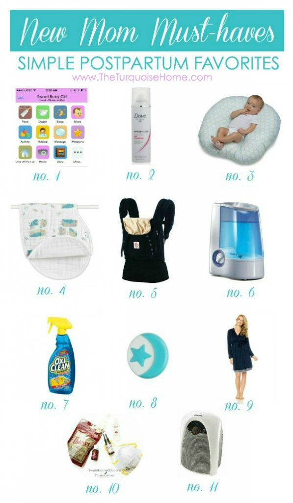 New Mom Must-Haves: Simple Postpartum Favorites | TheTurquoiseHome.com