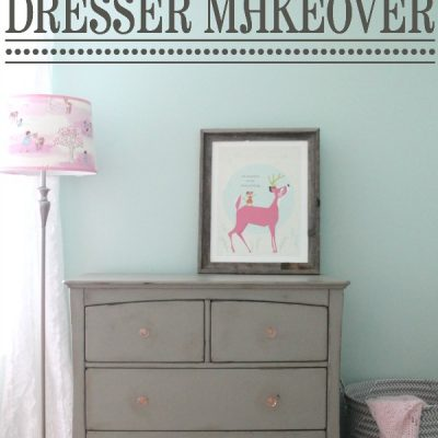 Gray Chalk Paint Dresser Makeover | TheTurquoiseHome.com