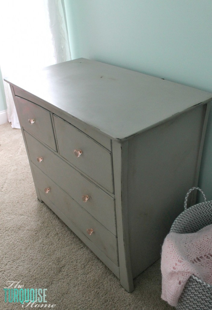 Gray Chalk Paint Dresser Makeover The Turquoise Home