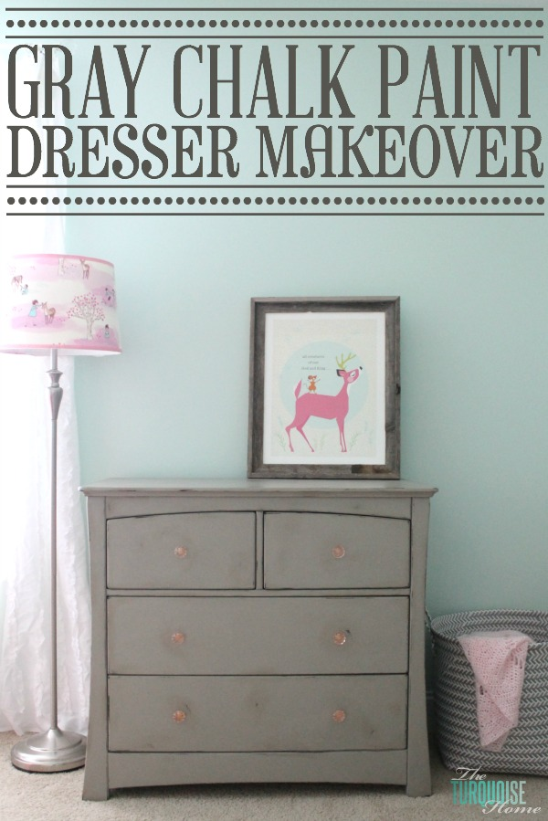 Gray Chalk Paint Dresser Makeover