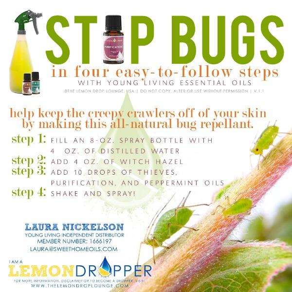 Make your own natural bug spray! | TheTurquoiseHome.com