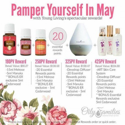 Young Living May 2016 Promos