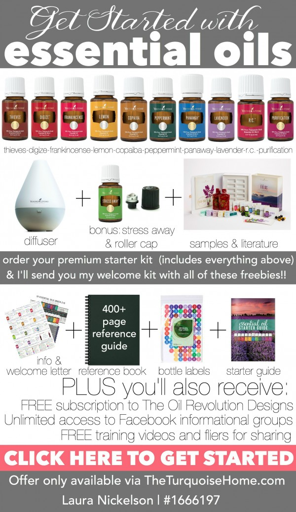 Essential Oils Premium Starter Kit with Free Welcome Kit | Only Available at TheTurquoiseHome.com