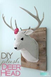 DIY Plush Deer Head | TheTurquoiseHome.com