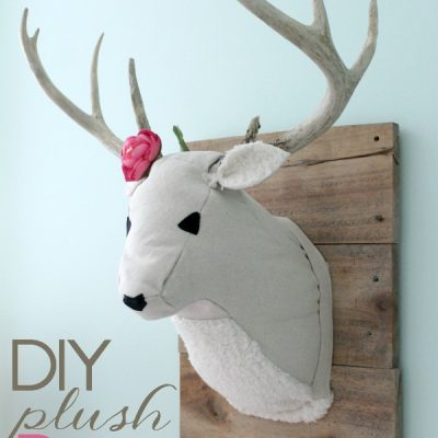 DIY Plush Deer Head