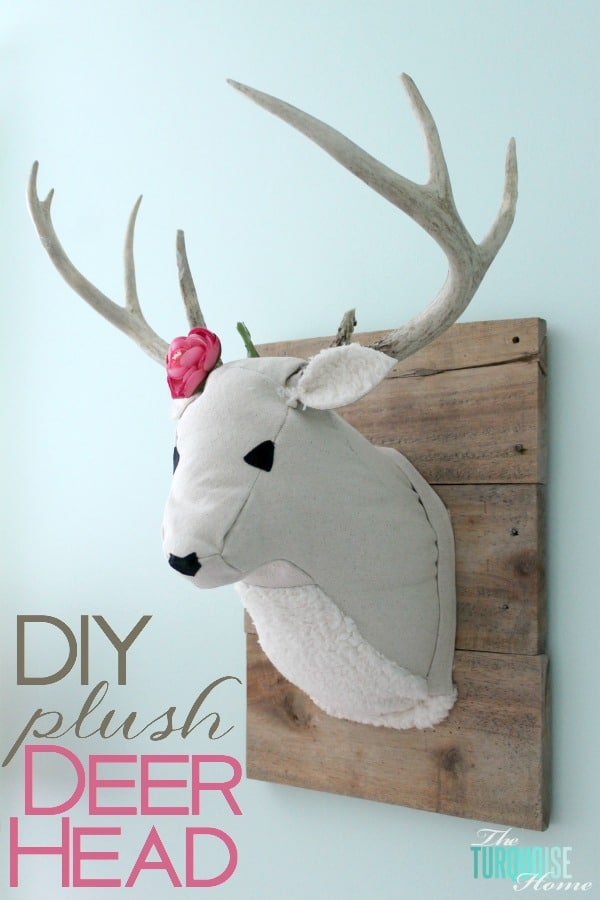 DIY Plush Deer Head | TheTurquoiseHome.com