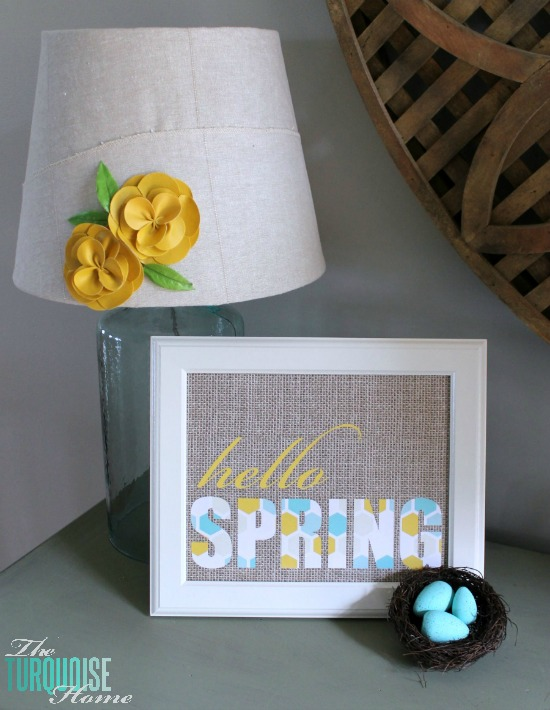 Hello Spring Printables in 6 different color combinations! | TheTurquoiseHome.com