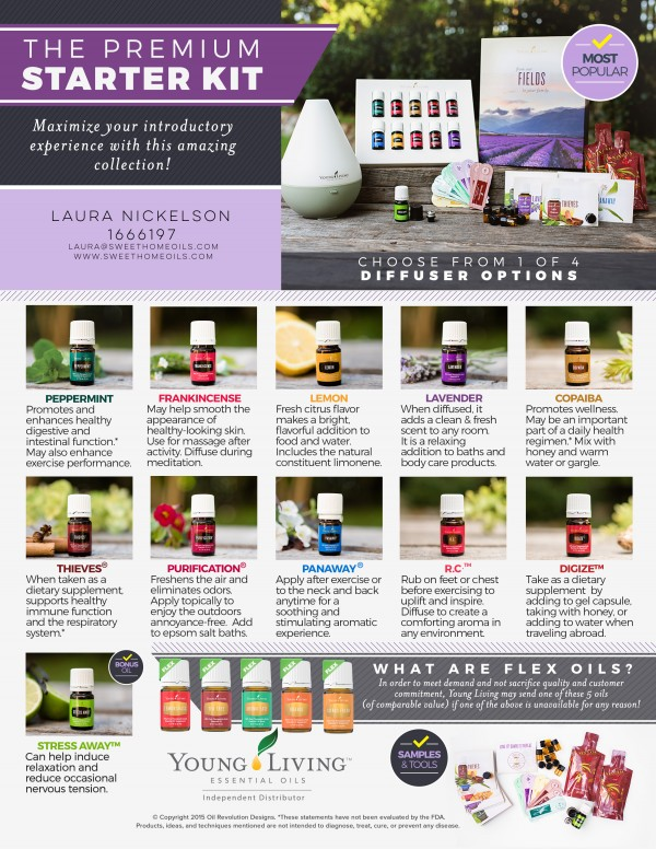 The amazing oils from the Premium Starter Kit. LOVE them!