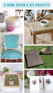 6 DIY and Home Decor Projects - Roundup via TheTurquoiseHome.com
