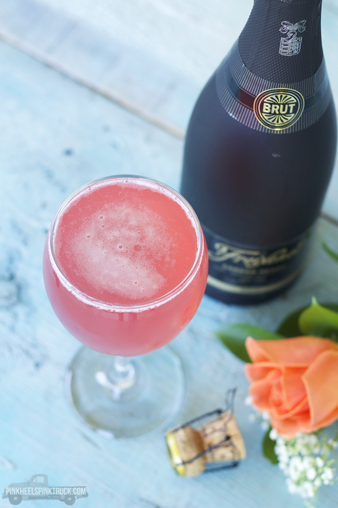 Raspberry Champagne Cocktail | Pink Heels Pink Truck