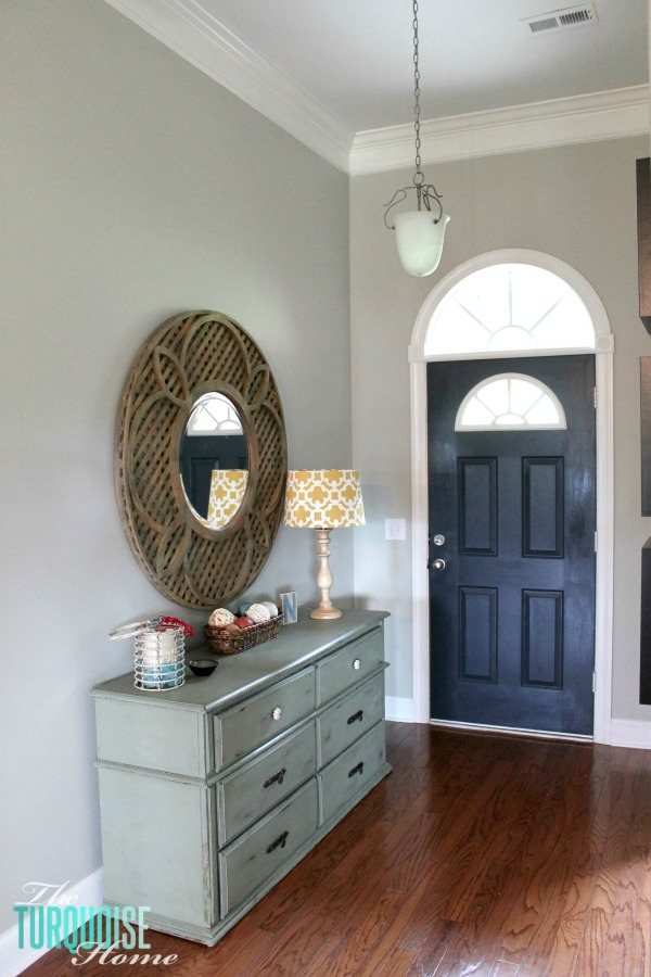 This builder-basic pendant needs an update! I'm picking from 5 Favorite Entry Way Lanterns via TheTurquoiseHome.com