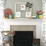 A Garden and Lemonade Stand Summer Mantel