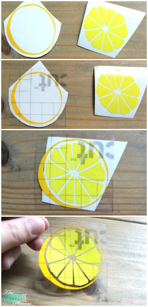 Great Summer Gift Idea!! Such a cute lemon in two-tones of yellow. It's easy to apply them together with a little transfer tape! Get all of the details at TheTurquoiseHome.com