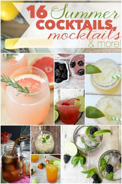 With the school year quickly coming to a close, and the heat ramping up, you'll need a cool drink faster than you can say blackberry mojito 10 times in a row. These yummy summer drinks will be your best friend poolside this summer. Get the run down via TheTurquoiseHome.com