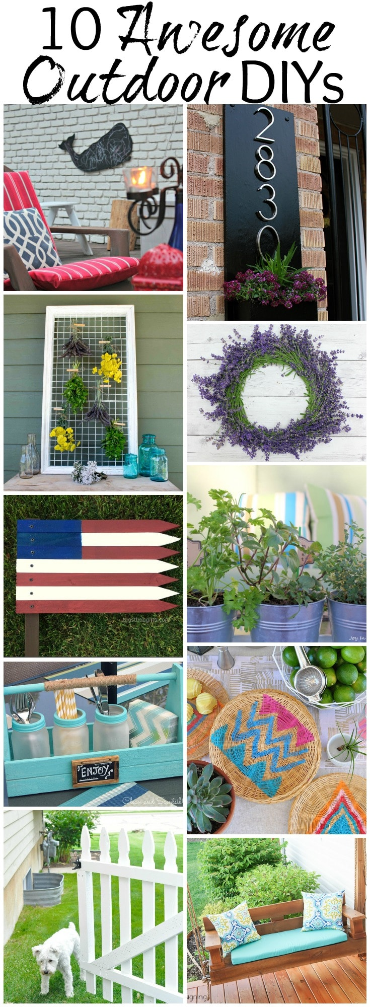10 Awesome Outdoor DIYs + Work it Wednesday No. 102