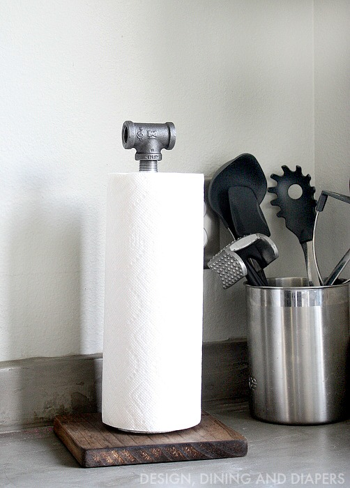 DIY Industrial Paper Towel Holder