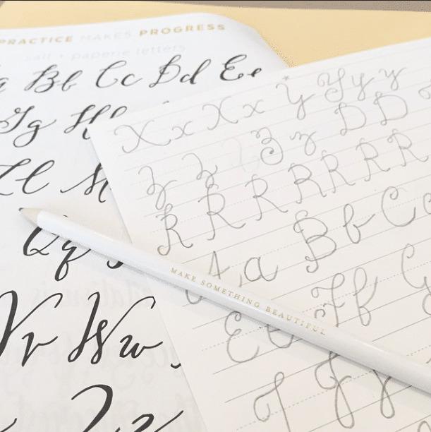 Practice makes progress - hand-lettering class!