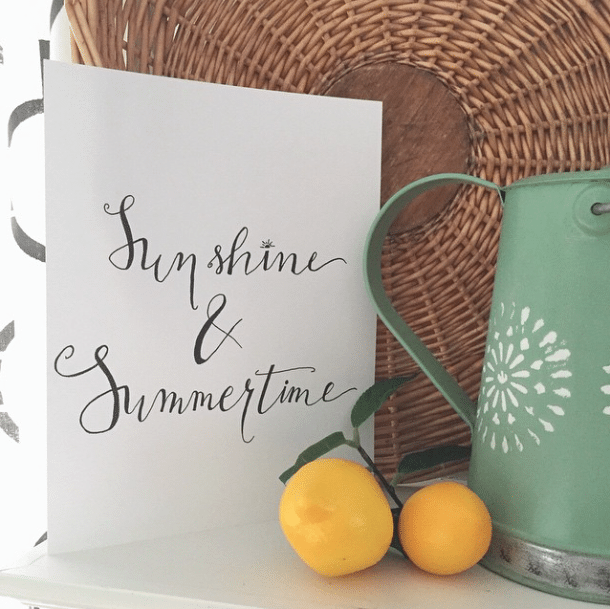 Sunshine and Summertime hand-lettering fun!