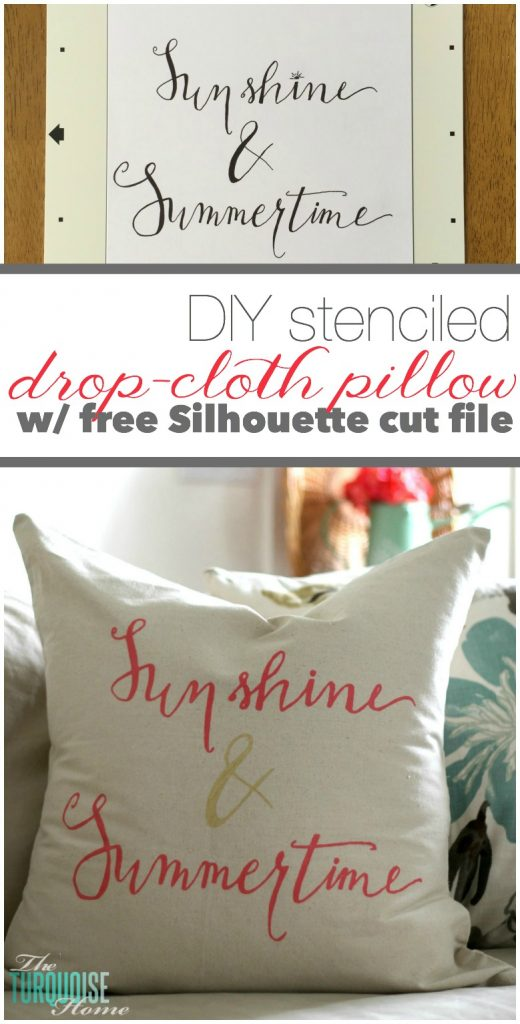 Come see the easiest most inexpensive way to redecorate your house! Free Silhouette Cut File via TheTurquoiseHome.com