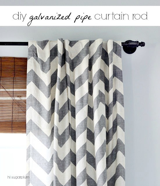Galvanized Pipe Curtain Rod
