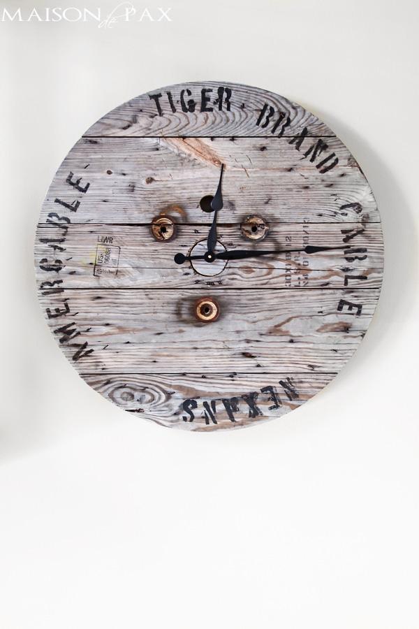 Industrial Spool Clock