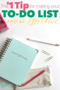 I have lists for everything, but they don't do me any good if I don't use them! Find out my number 1 tip for making my to-do list more effective! | TheTurquoiseHome.com