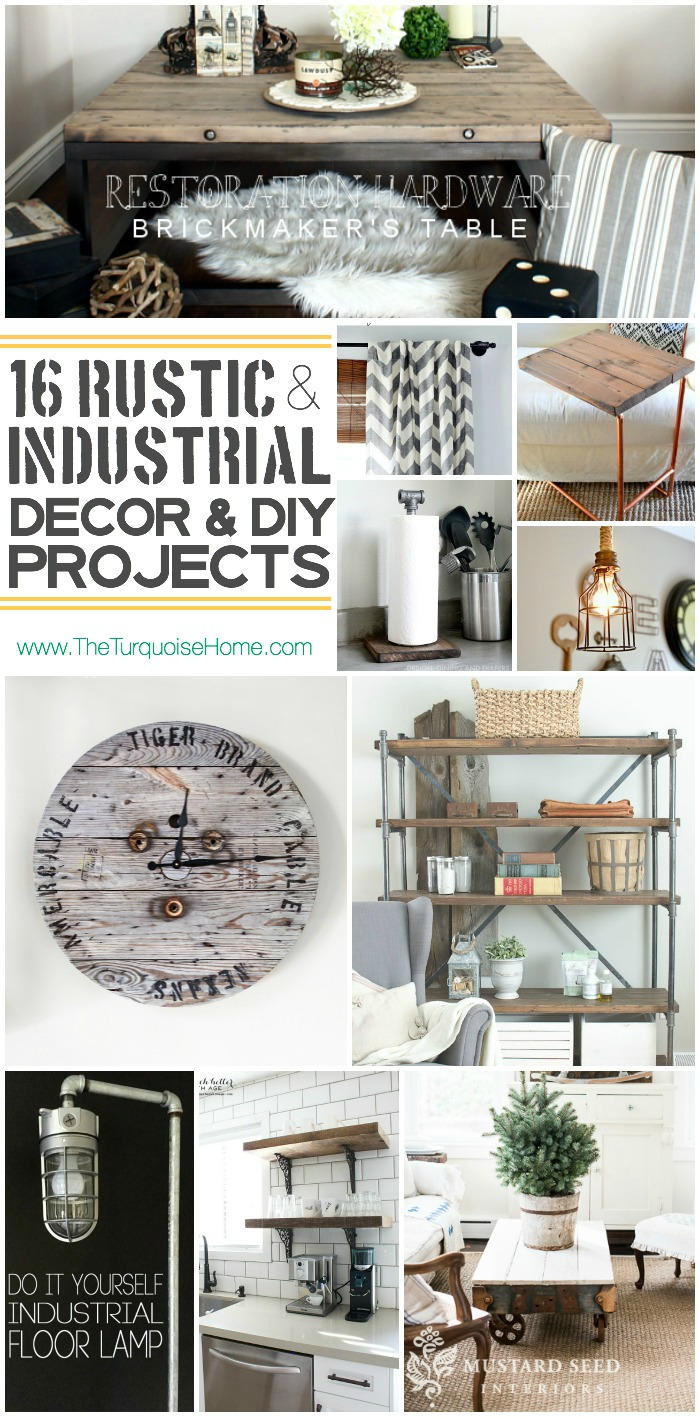 Style Trend: 16 Rustic Industrial Decor Ideas and DIY Projects | The ...