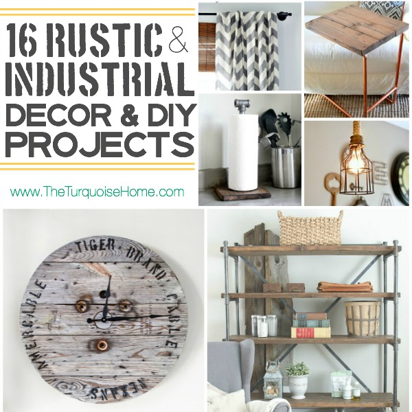 I absolutely love the rustic industrial style trend. Come check out 16  unique decor ideas