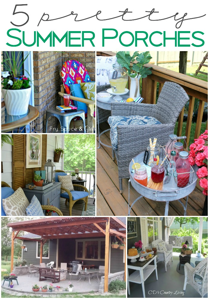 5 Pretty Summer Porches