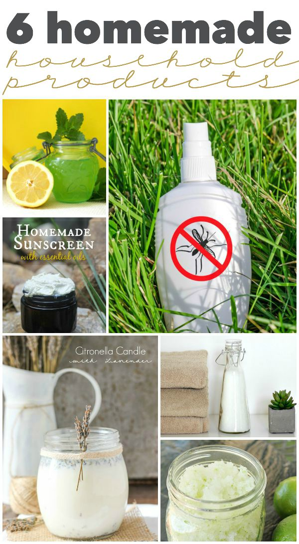 6 homemade household products | Roundup via TheTurquoiseHome.com
