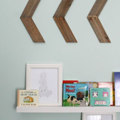 How about a cute set of arrows on the wall that hardly require any DIY at all? Quick, Easy - and Cute - Simple Chevron Arrows | Full tutorial at TheTurquoiseHome.com