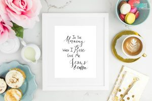 In the Morning, when I Rise, Give me Jesus & Coffee | TheTurquoiseHome.com
