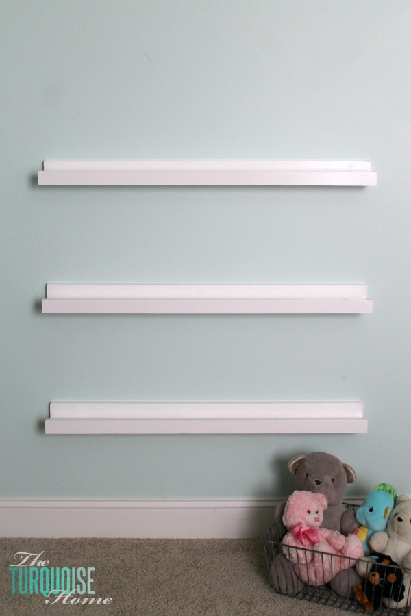 Diy Bookshelf Ledges For The Nursery Turquoise Home
