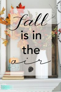 Fall is in the air with Fall Projects and Home Decor | TheTurquoiseHome.com