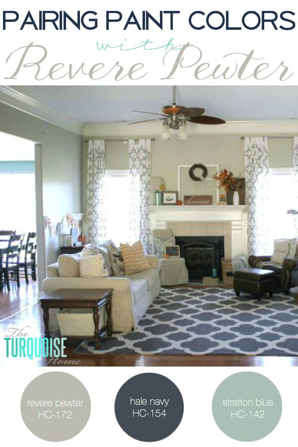 Pairing Paint Colors with Revere Pewter