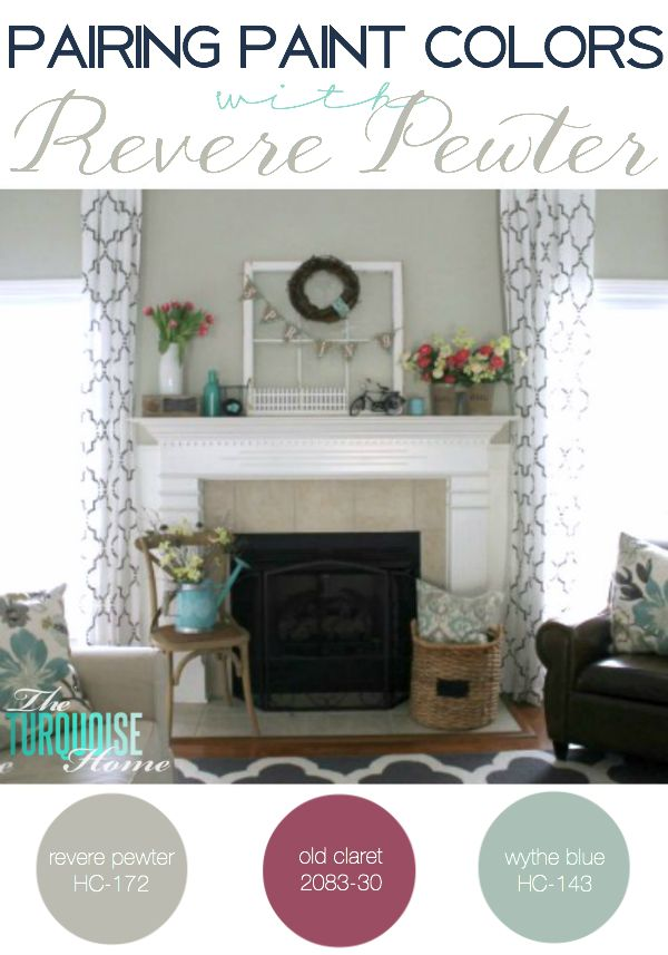 pewter color paintPairing Paint Colors with Revere Pewter  The Turquoise Home