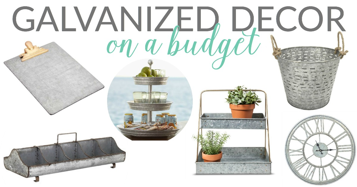 Galvanized Decor On A Budget Style Trend