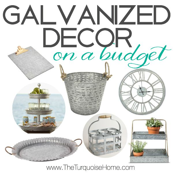 Galvanized Decor on a Budget {Style Trend}