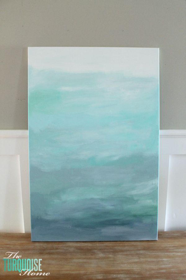 diy abstract art and a new table the turquoise home