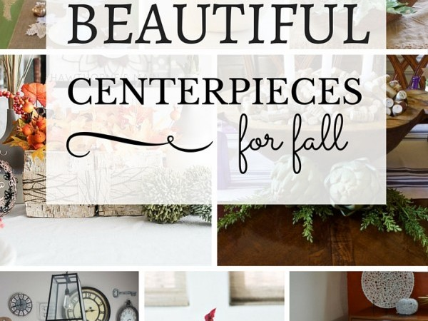 A lovely centerpiece is such a treat at a dinner party. Get inspired by these beautiful centerpieces for fall! | Roundup via TheTurquoiseHome.com