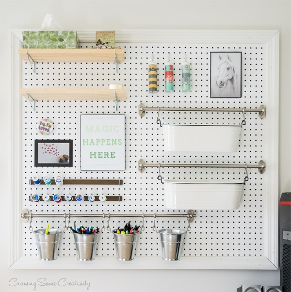 Pegboard in the Craft Room