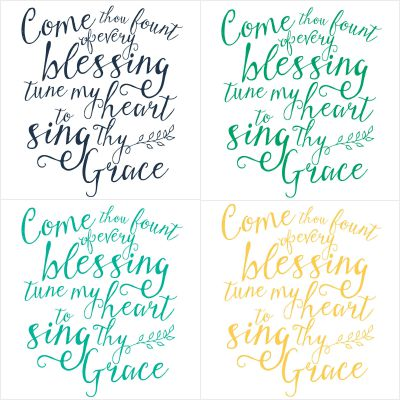 """The hymn """"Come Thou Fount"""" reminds us where our blessings come from. Such a season to be grateful and thankful for all we have! 